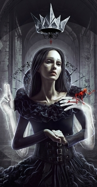 Аватар вконтакте Царица с нечистью на руке призрака