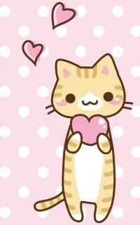 Аватар вконтакте Котенок с сердцем на розовом фоне