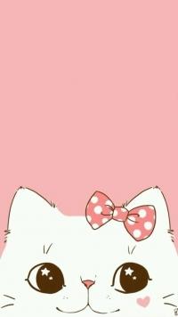 Аватар вконтакте Мордашка белого котенка на розовом фоне