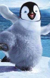 Аватар вконтакте Веселый пингвин стоит на льдине