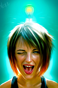 Аватар вконтакте Настолько девушка полна энергии и оптимизма, что засветилась даже лампочка, поднесенная к ее голове, art ocherr