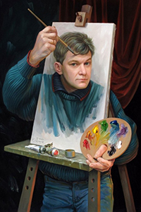 Аватар вконтакте Художник рисует автопортрет, art Oleg Shuplyak