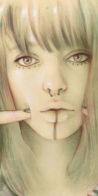 Аватар вконтакте Лицо девушки с пирсингом в носу