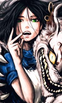 Аватар вконтакте Алиса / Alice и Чеширский Кот / Cheshire Cat из компьютерной игры Алиса: безумие возвращается / Alice: Madness Returns