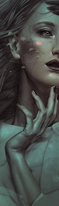 Аватар вконтакте Девушка держит руку у лица