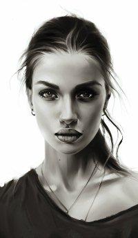 Аватар вконтакте Портрет девушки на белом фоне