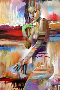 Аватар вконтакте Обнаженная девушка на фоне природы, art Timothy Parker