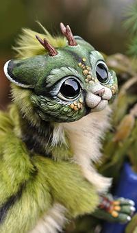 Аватар вконтакте Маленький лесной дракончик на фоне природы