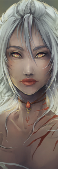 Аватар вконтакте Девушка с желтыми глазами