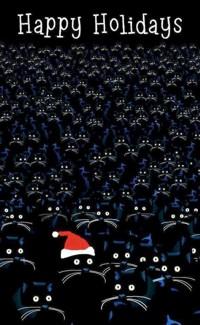 Аватар вконтакте Винтажная открытка с котиками (Happy Holidays / Веселых праздников)