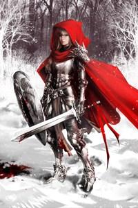 Аватар вконтакте Красная шапочка в доспехах