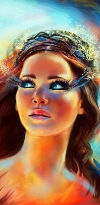 Аватар вконтакте Katniss Everdeen / Кэтнисс Эвердиин, героиня фильма The Hunger Games / Голодные игры, роль которой исполняет актриса Jennifer Lawrence / Дженнифер Лоуренс