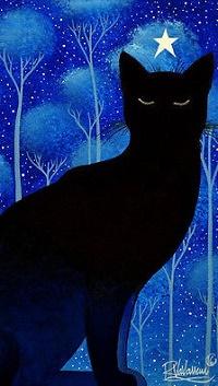 Аватар вконтакте Над головой черого кота звезда, by Raphael Vavasseur