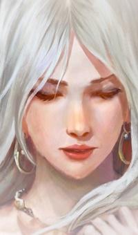 Аватар вконтакте Белокурая девушка с серьгами