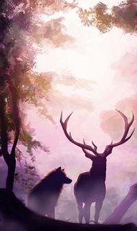 Фото олень на аву