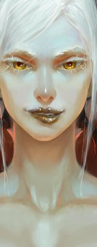 Аватар вконтакте Белокурая девушка с желтыми глазами, by chirun