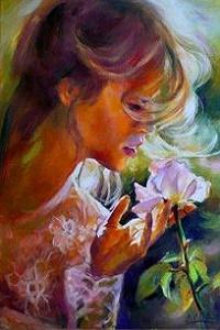 Аватар вконтакте Девушка с белой розой