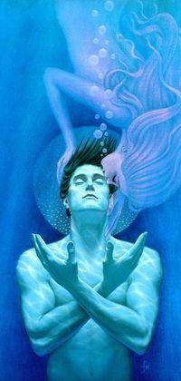99px.ru аватар Девушка-русалка целует парня под водой