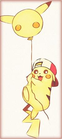 Аватар вконтакте Пикачу / Pikachu из аниме Покемон / Pokemon, летит на воздушном шарике