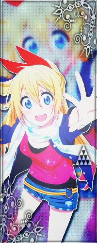 Аватар вконтакте Читогэ Кирисаки / Chitoge Kirisaki в майке и шортах, улыбается, из аниме Притворная любовь / Nisekoi