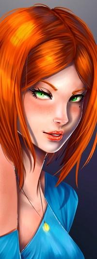 Аватар вконтакте Девушка с ярко рыжими волосами