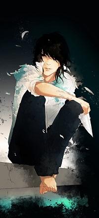Аватар вконтакте Парень в белой рубашке сидит с бумажным самолетиком в руке, art by Re