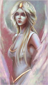 Аватар вконтакте Грустная девушка-ангел с длинными волосами, by Sicarius8