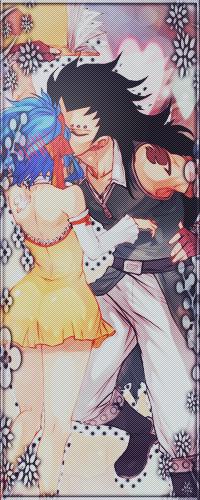 Аватар вконтакте Гажил Редфокс / Gazille Redfox целует Леви / Levy из аниме Фейри Тейл / Хвост Феи / Fairy Tail