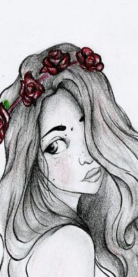 Черно белые картинки девушек карандашом