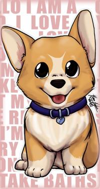 99px.ru аватар Милый щенок вельш-корги в ошейнике