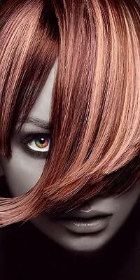 Аватар вконтакте Лицо девушки с челкой, прикрывающей глаз