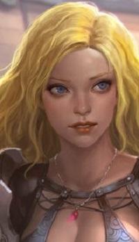 Аватар вконтакте Белокурая девушка с голубыми глазами