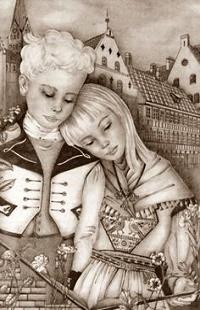 Аватар вконтакте Девочка положила голову на плечо мальчику, иллюстратор Адриенна Сегур