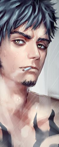 Аватар вконтакте Trafalgar Law / Трафальгар Ло из аниме One Piece / Ван Пис, art by Green Tea (Pixiv7319843)