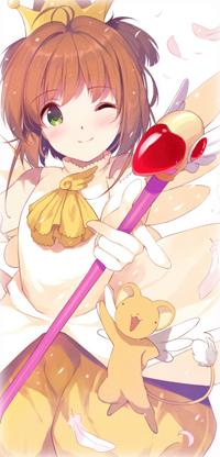 Аватар вконтакте Сакура Киномото / Sakura Kinomoto и Кероберос / Keroberos из аниме Сакура - собирательница карт / Card captor Sakura