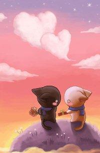 Аватар вконтакте Два влюбленных котенка