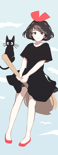Аватар вконтакте Kiki / Кики и Jiji / Джи-Джи из аниме Majo no Takkyuubin / Ведьмина служба доставки, by Jayuu