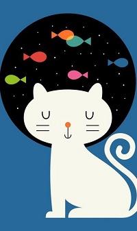 Аватар вконтакте Кот, мечтающий о рыбках, иллюстратор Andy Westface