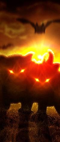 Аватар вконтакте Коты со светящимися глазами, фрагмент работы от Mr-Ripley