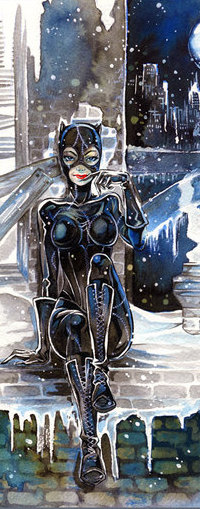 Аватар вконтакте Женщина-кошка / Catwoman — персонаж вселенной DC Comics, в комиксах о Бэтмене, by CKJohnson