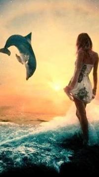 Фото девушка выходящая из моря