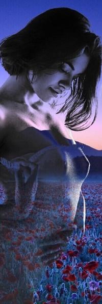 Аватар вконтакте Девушка изображена на фоне поля с маками