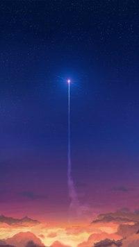 Аватар вконтакте Взлетающий за закатные облака светящийся объект