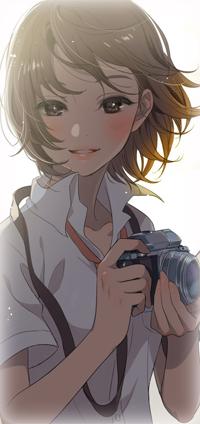 Аватар вконтакте Девушка с фотоаппаратом в руках