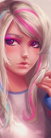 Аватар вконтакте Девушка с розовыми глазами, by Axsens