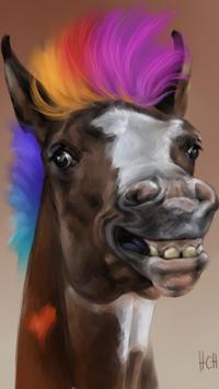 Аватар вконтакте Голова веселого пони с модной прической, исходник by Svetlana Naumovich