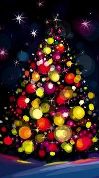 Аватар вконтакте Новогодняя красочная елка в шарах