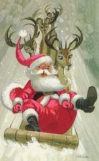 Аватар вконтакте Дед Мороз несется на санях