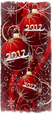 Аватар вконтакте Новогодние красные шары, 2017