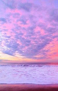 Аватар вконтакте Розовый закат на морском берегу